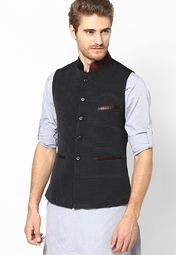 Check out this black coloured waistcoat from See Designs that will be a stylish addition to your wardrobe. Designed for urban men, this waistcoat will lend you a smart look.