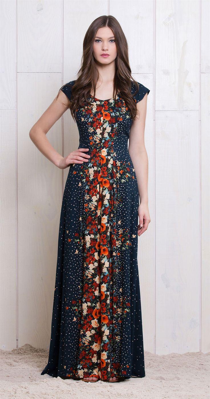 Vestido Longo Chuva De Flores | Lookbook | Antix Store