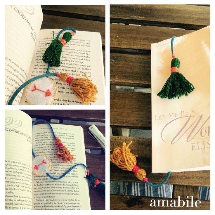 Tassel bookmark. Birthday present for S.