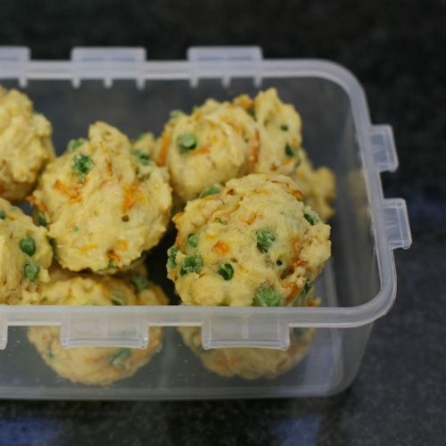 veggie cheese egg muffins for toddlers