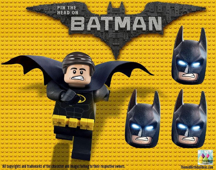 LEGO Batman Movie Birthday Party Pin the Head (Mask) on Batman FREE DOWNLOAD – Themed Birthday Ideas – Party Inspiration, Ideas, and Products