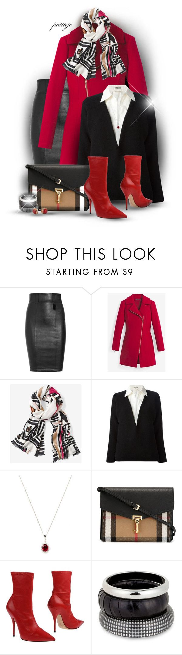 """""""Little Red Riding Coat"""" by rockreborn ❤ liked on Polyvore featuring Thomas Wylde, White House Black Market, Hermès, Vendoro, Burberry, Casadei and MOOD"""