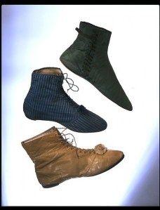 1812-1820 ladies boots. Image Victoria & Albert Museum