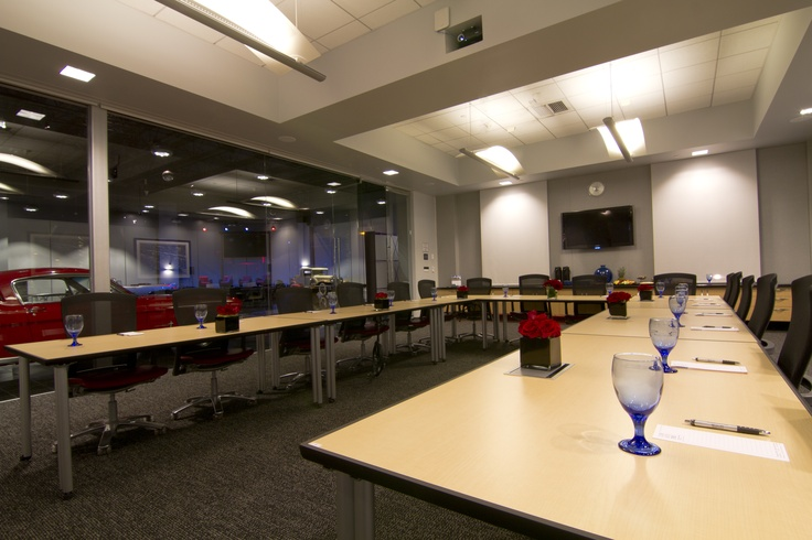 Our Conference Room.  Seating from 15 to 75.   Boardroom, Classroom or theater style.  Full AV  Privacy Screens  Half day  or full day rental