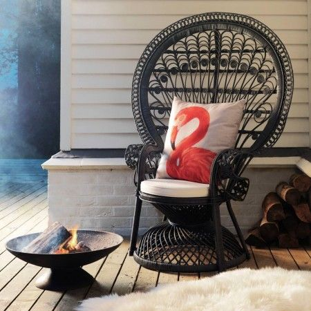 Outdoor living: Black Peacock Chair from Graham & Green