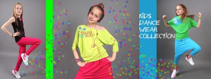 Unikt dansetøj og sportstøj til børn af forskelligt børnestørrelser i lækre farver og høj kvalitet. Sportsbukser, dansebukser, zumbatøj, hele sportsets og bluser i matchende friske farver.