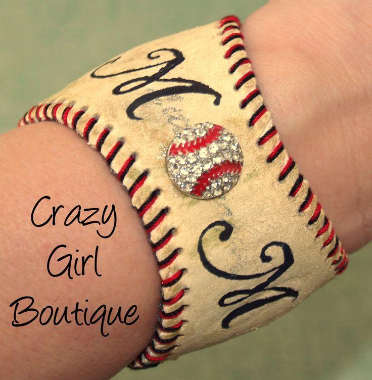 Baseball Cuff Bracelet / Recycled Baseball. $25.00, via Etsy.LOVE IT! Perfect for any baseball mom