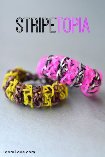 How to Make the Stripetopia #rainbowloom