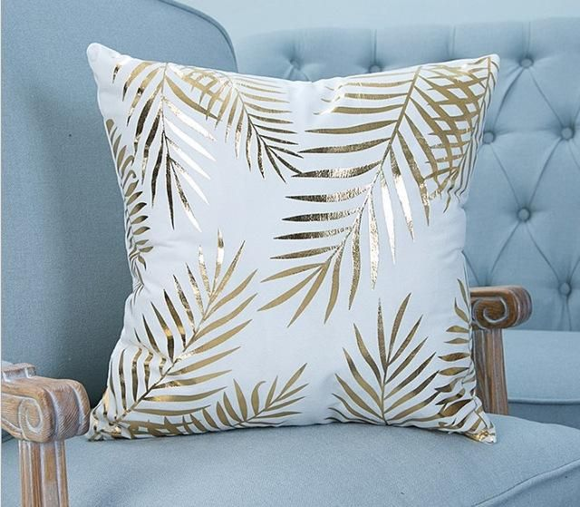 Golden Tropics Throw Pillow Covers - 2 Designs