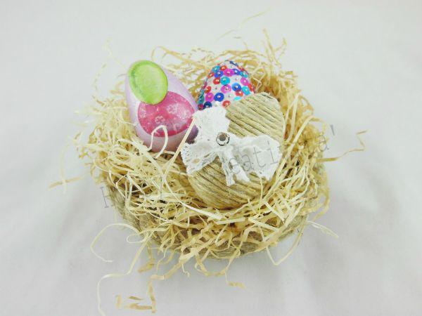 Uovo di Pasqua con corda | Hobby e Creatività