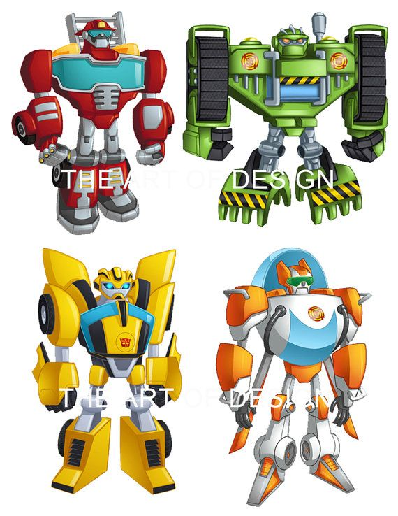 Rescue Bots Transformers Stickers Party Labels By TheArtofDesigns