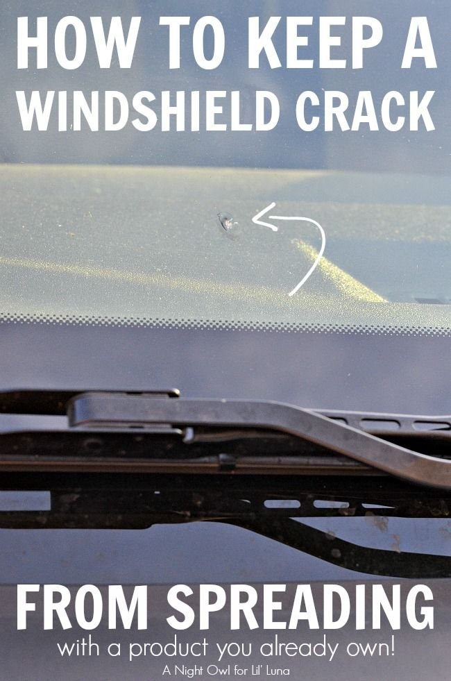 How to keep a windshield crack from spreading! Brilliant! | A smart DIY idea of keeping a windshield crack from spreading. Here's a simple but effective solution!