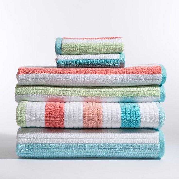 Caro Home 100 Cotton Shower Curtain Wide Stripes Chevron Fabric