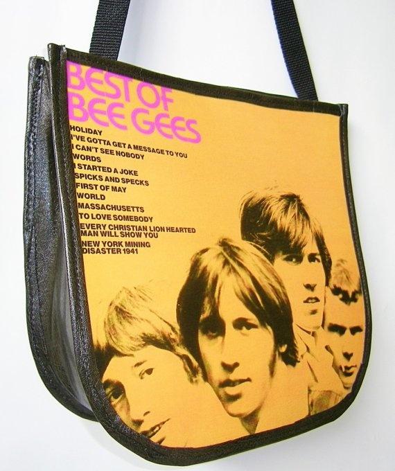Bee Gees Record Handbag Vintage Vinyl Record Album Purse