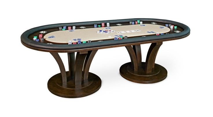 Buy Venice Texas Hold'em Table by California House - Made-to-Order designer Furniture from Dering Hall's collection of Mid-Century / Modern Transitional Game Tables.