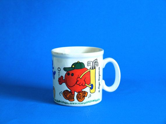 Retro Roger Hargreaves Mr Noisy Mug  Vintage Kitsch by FunkyKoala
