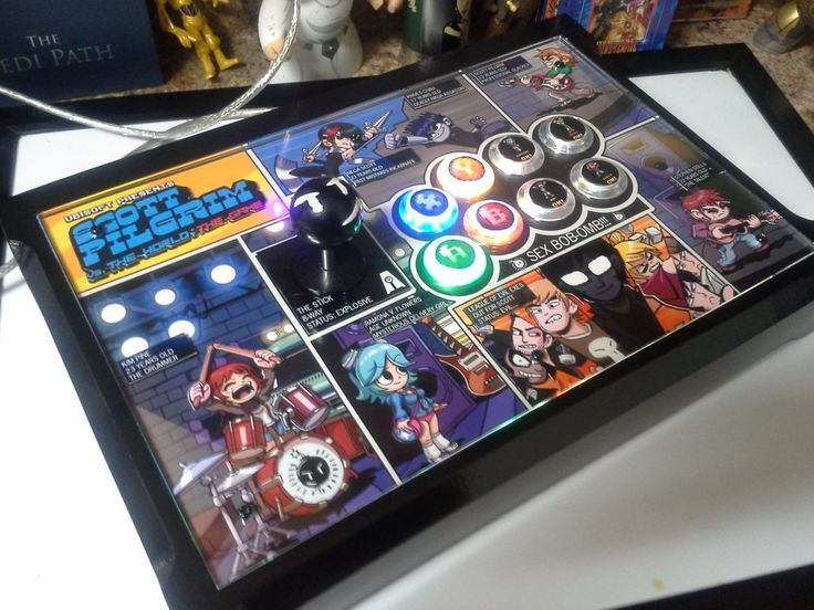 This is a handmade custom joystick/arcade stick. It is portable and plugs into PC/PS3/Xbox360 via a detachable LED USB cable. Specs Wood - Painted Black Compatibility - (ps3/XBOX 360/pc) Top Effect...