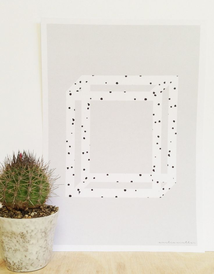 3D Square Dot Print Graphic Design Poster by ProjectOGrahipcs on Etsy
