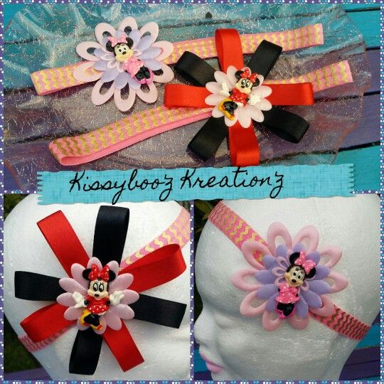 Minnie inspired headbands now available at Kissyboo'z Kreation'z on Facebook