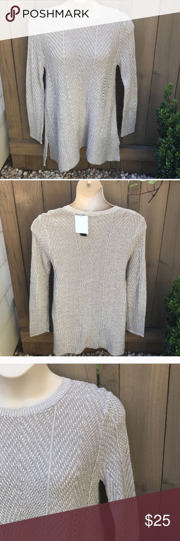 Eight Eight Eight beige sweater NWT size L NWT size L Eight Eight Eight beige sweater: BLACK BIN 6 Eight Eight Eight Sweaters