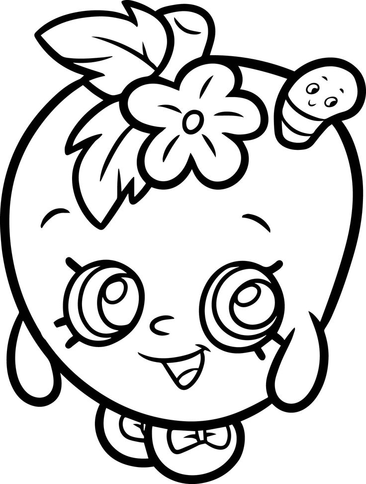 Apple Blossom From Shopkins Coloring Page Drawings