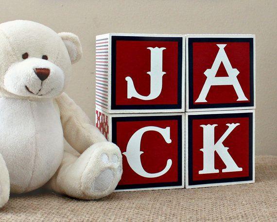 Baby Blocks, Baseball Nursery Decor, Baby Name Blocks, Personalised Baby Blocks, Baby Shower Gift, Unique New Baby Present, Sport Nursery