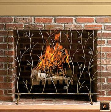 Fireplace Screen eclectic-fireplace-screens