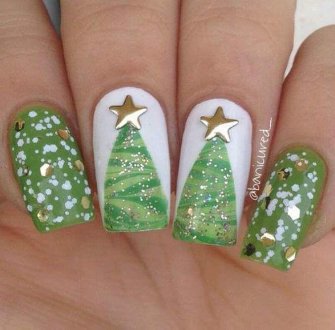 82 best → Nails Chistmas images on Pinterest | Uñas de navidad ...