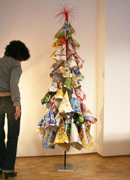 unusual christmas trees bring fun to christmas decorating and help unleash your creativity exploring various materials new design ideas or recycling items - Unusual Christmas Trees