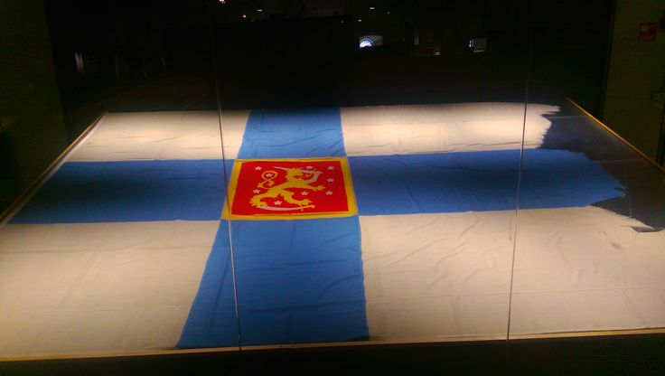 In honor of your Independence Day here is a picture of The Last Finnish Flag to fly over Viipuri. Taken at the War Museum on Suomenlina.