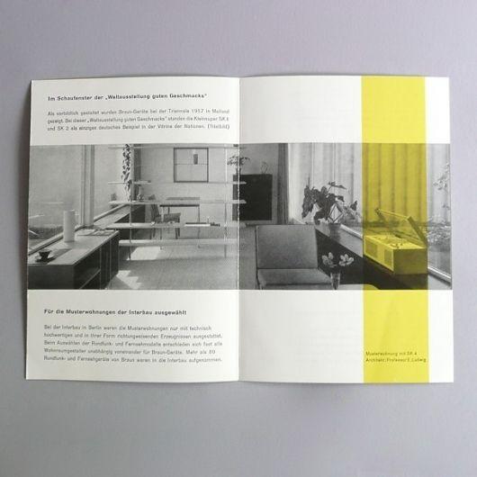 Braun electrical - Print material / artwork - Braun Milan Triennale 1957 card