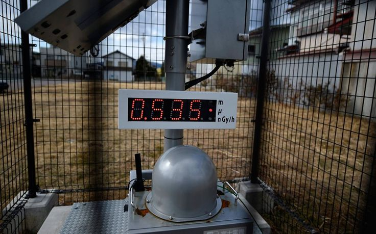 Misure di radioattività attorno a Fukushima.