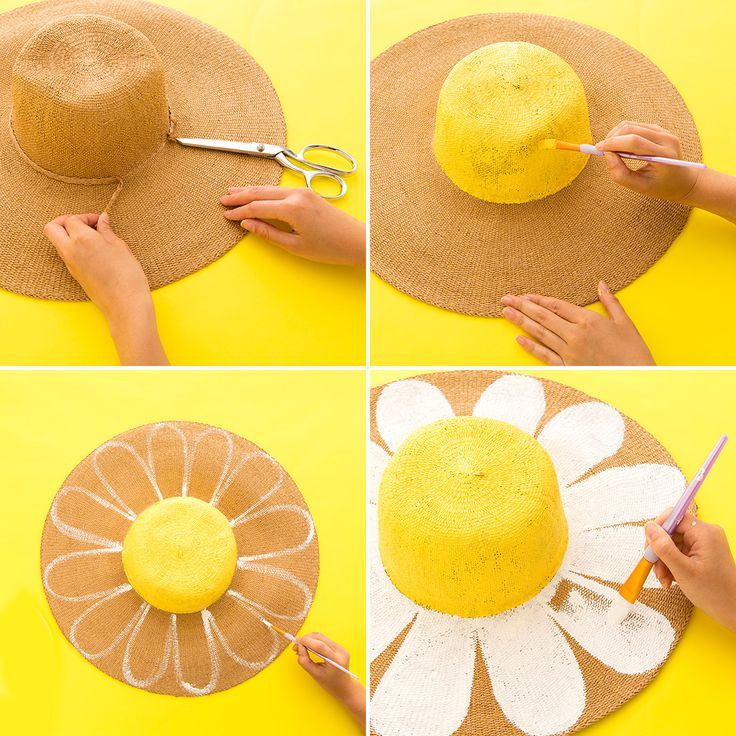Upgrade a Basic Summer Straw Hat With These 3 Easy Style DIY Projects via Brit + Co