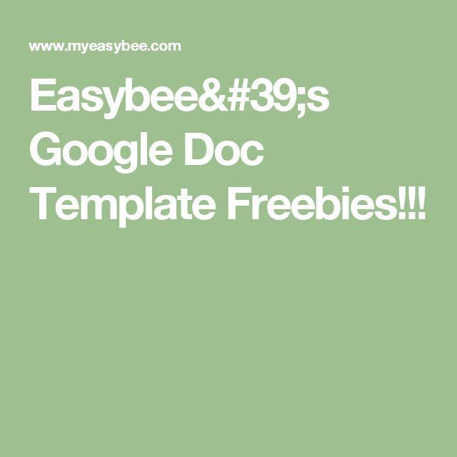 Easybee's Google Doc Template Freebies!!!