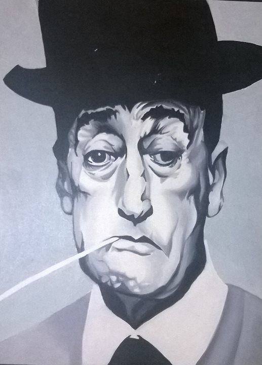 Totò olio su cartone telato - Francesca Piva https://www.facebook.com/Francesca-Piva-1518741268452199/