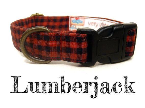 Red Black Lumberjack Handsome Boy Preppy Plaid Dog by veryvintage