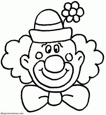 Dibujos Sin Colorear: Dibujos de Payasos del Circo para Colorear.