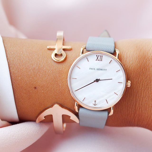 Line Rose Watch Leather Pearl Ocean Miss Ip Gold Strap thdCsQrxB