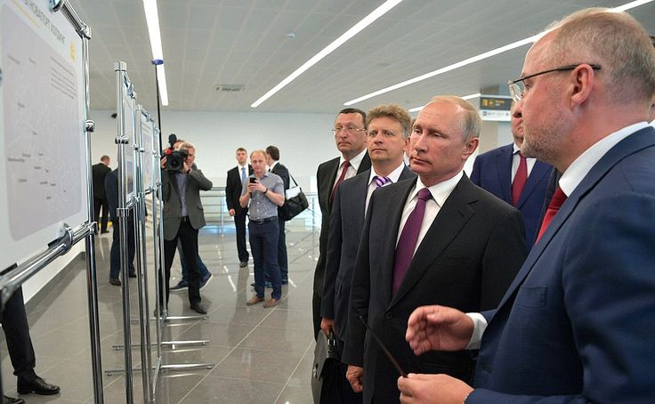 Visit to new Khrabrovo airport terminal.