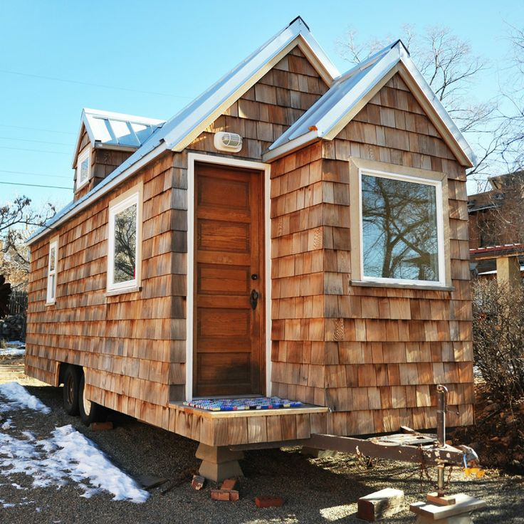 Best Custom Cedar Shingled Tiny House Tiny House Exterior 400 x 300
