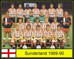 Sunderland team group in 1989-90.