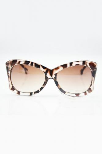 Leopard Cat Eye Oversized Sunglasses