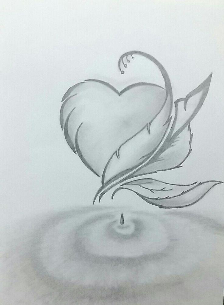 Pencil hart  Drawing