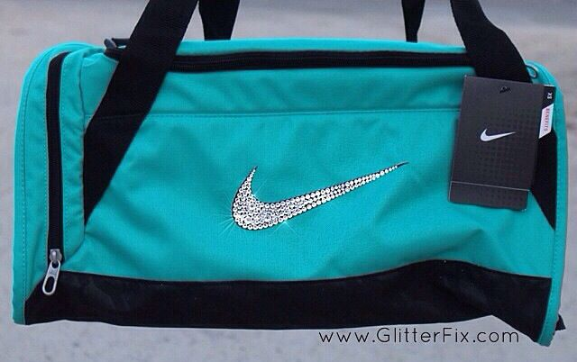 Customized XS Nike duffle bag with Swarovski crystals