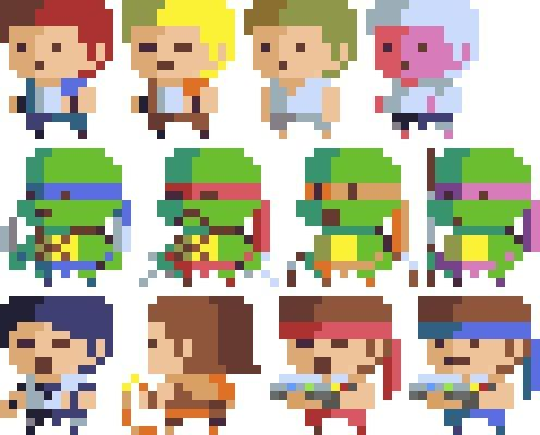 8-bit Characters, Hendry Roesly on ArtStation at https://www.artstation.com/artwork/8-bit-characters  #pixelart