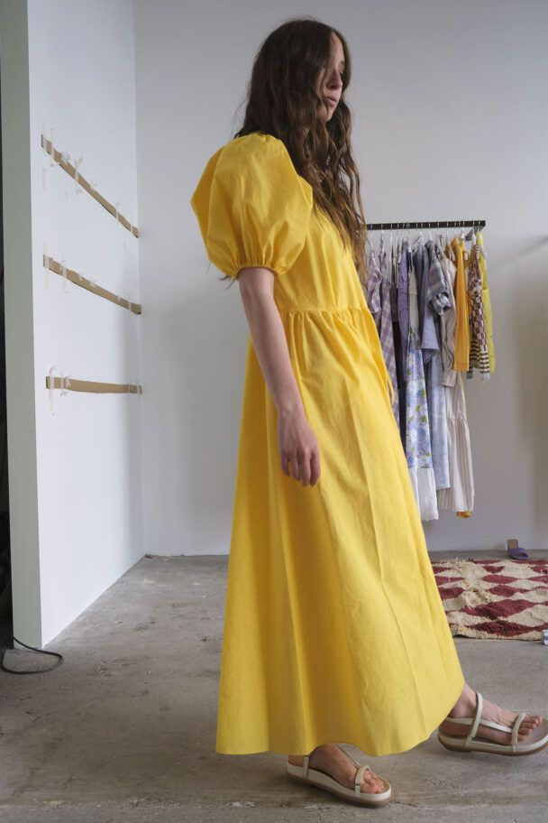 Avn Wrap Dress Bright Yellow I 2020