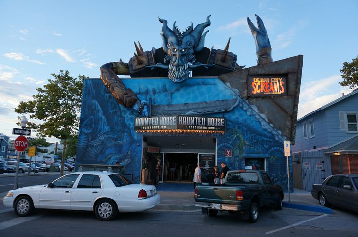 OC Screams haunted house, more than worth the time and admission!  Right by Trimper's Rides at the Inlet.