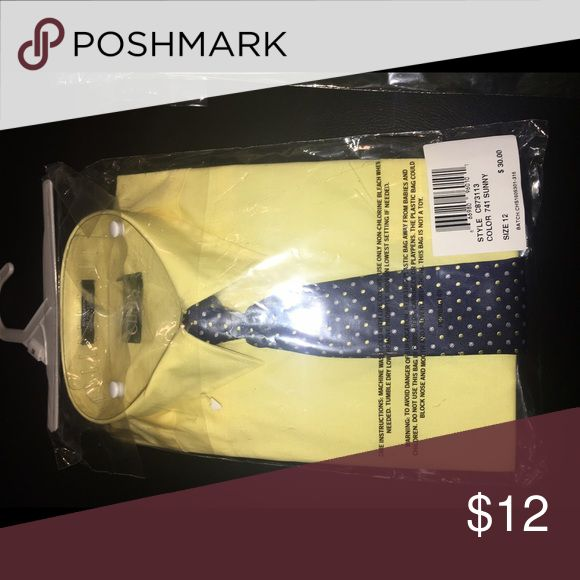 Chaps dress shirt size 12 Chaps boys yellow dress shirt with tie. NWT Chaps Shirts & Tops Button Down Shirts