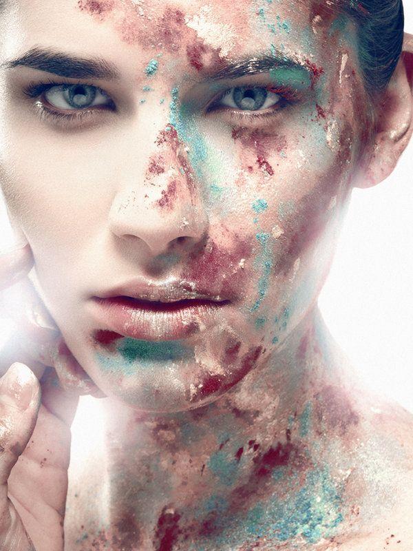 Paint splatter  BEAUTY II by JESSICA JEAN MYERS :: TORONTO MAKEUP ARTIST