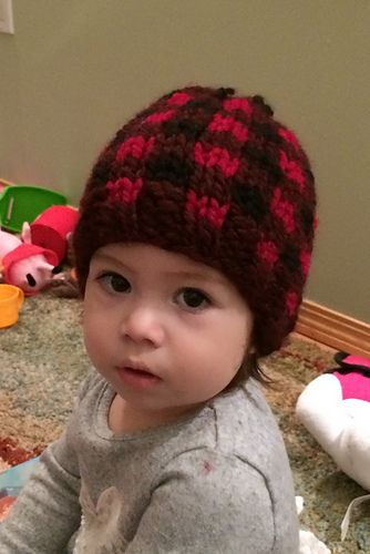 Ravelry: Toddler - Child Plaid Toque pattern by Sharon Bond